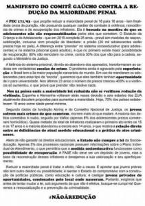 manifesto do comite